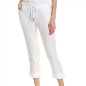 Michael Stars Woman's Cuffed Linen Trousers